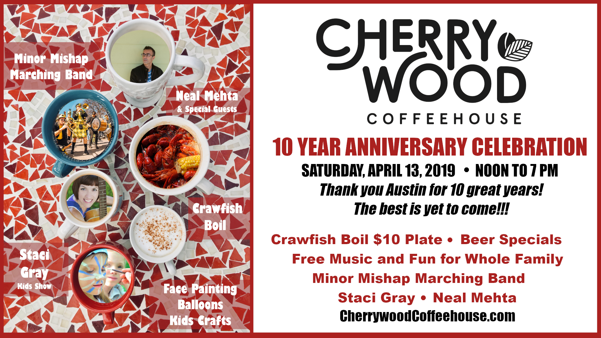 Cherrywood 10 Year Anniversary April 13 2019